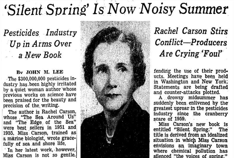 New York Time Headlines Silent Spring is now Noisy Summer