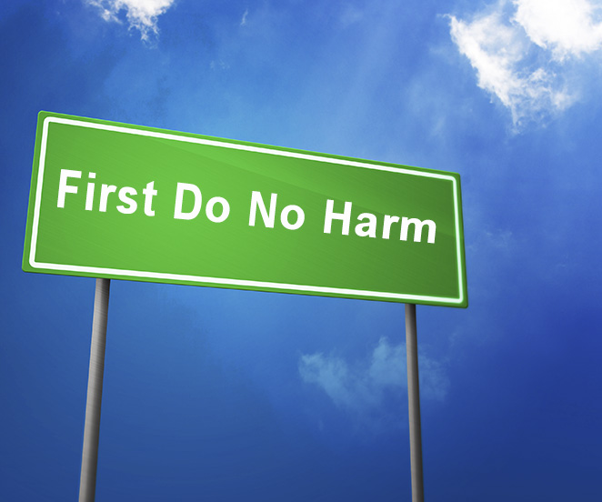 Road Sign: Do No Harm
