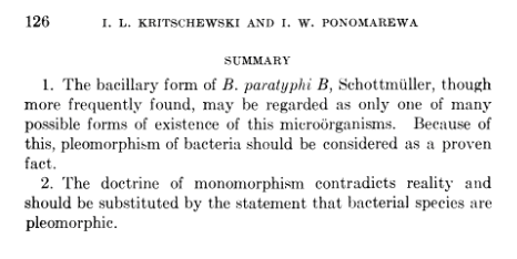 Pleomorphism of bacteria is a fact.