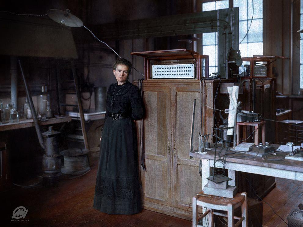 M. Curie Colorized