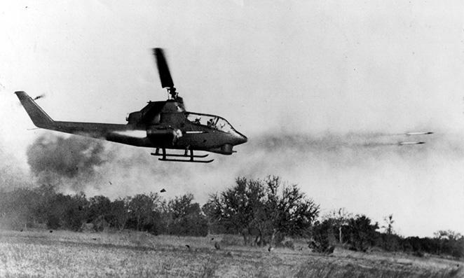 Cobra firing rockets in Vietnam