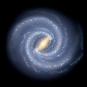 Artist Conception Stardust In Milky Way