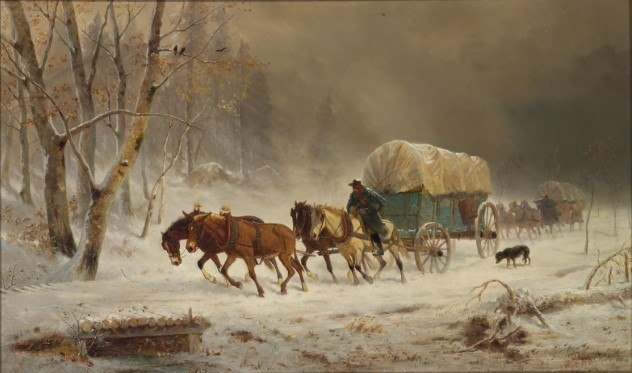 Painting by William Hahn: Going Home
